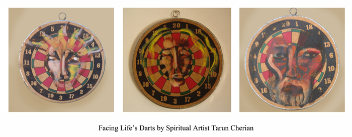 Facing Life's Darts by Spiritual Artist Tarun Cherian